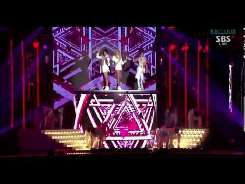 Back - 2NE1 (CL, Dara, Minzy) - Crush + Come Back Home & SISTAR - Touch My Body @ 2014 SBS Gayo Daejun Super 5.