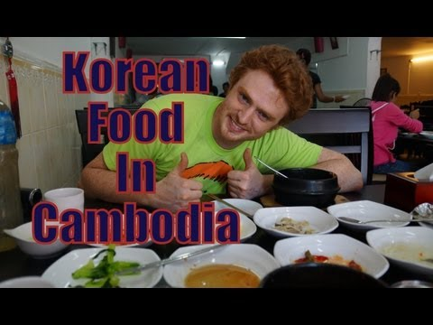 Eating Korean Food in Siem Reap, Cambodia