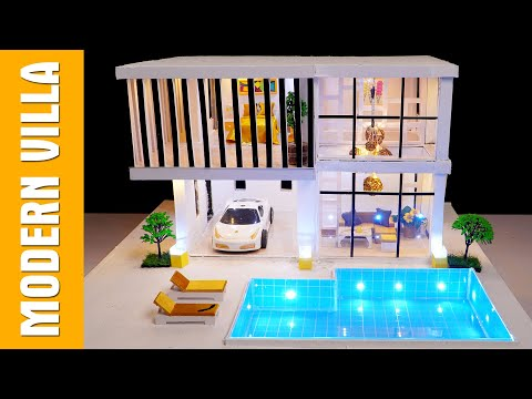 Suprising Idea mini house ! Easy Way To Make A Great Modern House with Swimming Pool