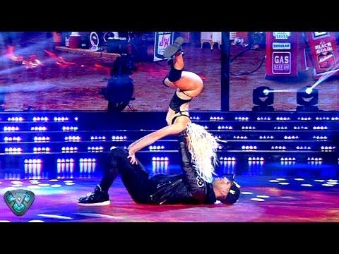 El Tirri aceitó sus articulaciones y Noelia Marzol incendió la pista con sus movimientos #Showmatch #Bailando2015