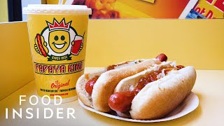 Why New Yorkers Swear By Papaya King's Hot Dog And Fruit Juice Combo | Legendary Eats