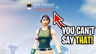 "Video I got people to say my ""inappropriate  name"" on Fortnite... (hilarious reactions) MP3, 3GP, MP4, WEBM, AVI, FLV Maret 2019"