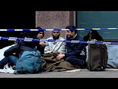 Εκατοντάδες μετανάστες στους δρόμους των Βρυξελλών
