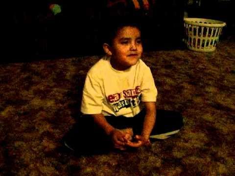 little boy telling a navajo story