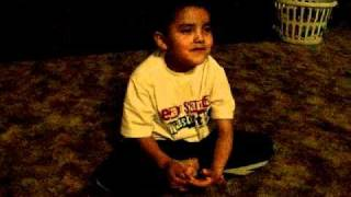 lil quinton telling a coyote story in navajo. i like the coyote lol!
