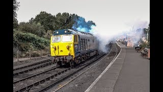 Class 50 Clag Monster 50035 Ark Royal On The Severn Valley Railway Between Bridgnorth & Highley