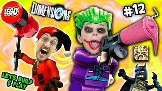 Lets Build & Play LEGO Dimensions #12: GLITCHY JOKER CHASE & Harley Quinn Steals a Slurpie Slushie!