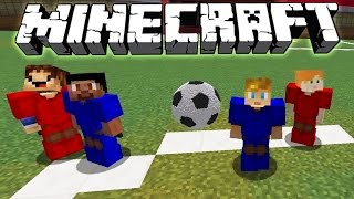 RED VS BLUE NEW FOOTBALL IN MINECRAFT!