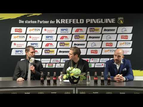 Pressekonferenz Spiel Krefeld Pinguine - Nürnberg 20.01.2019