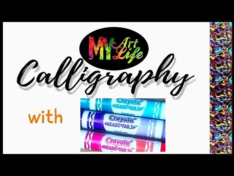 Crayola Head n' Tails Calligraphy