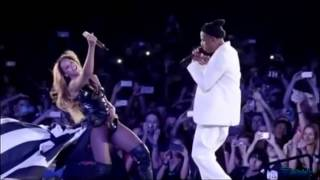 """Beyonce And Jay Z """"Forever Young"""" """"Halo""""Paris Stade de France On The Run Tour.【HD】."""