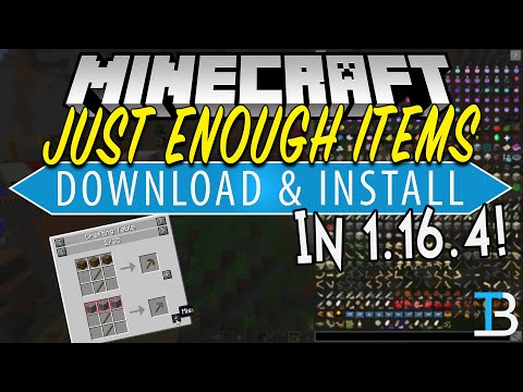 How To Download & Install Just Enough Items in Minecraft 1.16.4 (JEI for 1.16.4!)