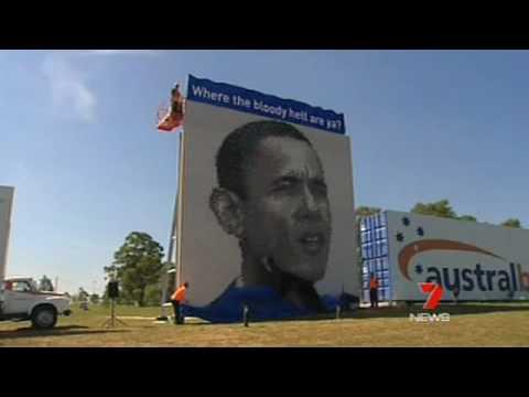 Barack Obama tribute unveiled - despite his no show