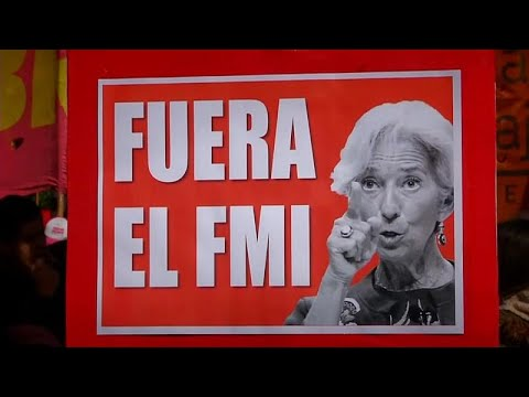 Argentinien: Demonstrationen gegen den IWF in Buenos  ...