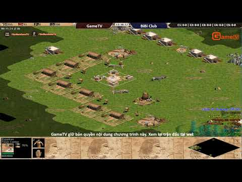AOE | 4vs4 Random GameTV vs BiBi Club Ngày 22 11 2017.BLV: G_Man
