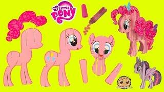 Create Build A 3D My Little Pony Pinkie Pie MLP Craft Kit - Cookieswirlc Video
