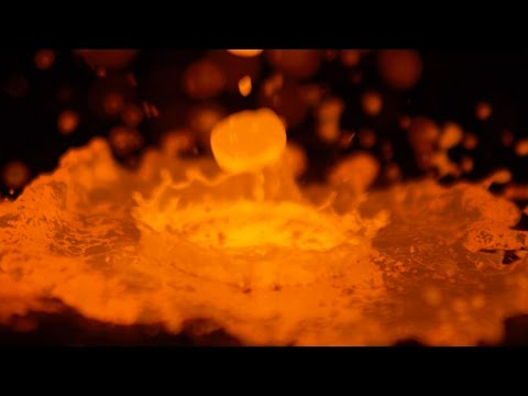 Capturing Molten Copper in Slow Motion