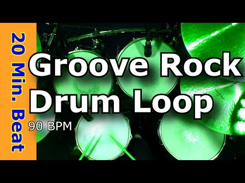 Groove Rock 90 BPM Extended Drum Loop Mix JimDooley.net