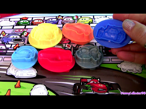 carro mcqueen - From disney pixar cars, this is the Cars2 play doh mold a car playset with 12 cars 2 characters including lightning mcqueen, mater, luigi, guido, francesco b...