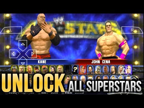 WWE All Stars - How to Unlock all Characters / WWE Superstars [PSP]