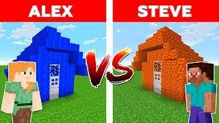 Video MINECRAFT - ALEX vs STEVE! WATER HOUSE vs LAVA HOUSE / Minecraft Animation MP3, 3GP, MP4, WEBM, AVI, FLV Januari 2019