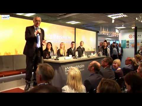 stockholm business region - MIPIM 2014 was a great opportunity for exploring and discovering innovative marketing strategies and technologies. REBEC Team had a chance to talk to Mr. Olo...