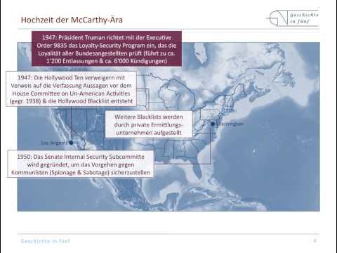 Die McCarthy-Ära in den USA (1940er & 1950er Jahre)