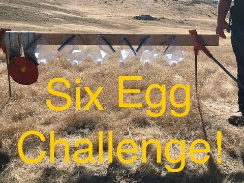 300 Yards, Six Shot Six Egg Challenge!