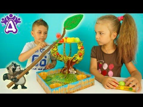 Сбиваем яблоки Игры Для Детей Распаковка Unboxing toys Apple POP Развивающая Игра для Детей Розыгрыш (видео)