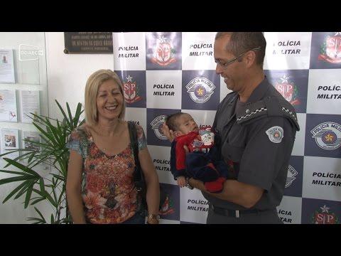 Policiais do Copom auxiliam no salvamento de bebê