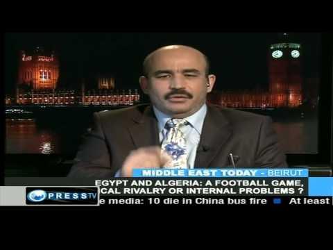 PRESS TV 28 NOV 2009 ZITOUT EGYPT ALGERIA FOOTBALL MANIPULATION 2/3
