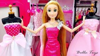 Video 💖BARBIE DOLL💖PRINCESS BARBIE RAPUNZEL💖BEDROOM BARBIE DRESSES FASHION SHOPPING TRYING ON CLOTHES MP3, 3GP, MP4, WEBM, AVI, FLV Januari 2019