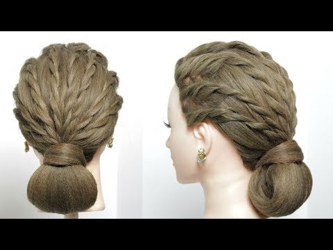 Hairstyles for long hair - Easy & Simple Party Hairstyle. Updo For Long Hair Tutorial
