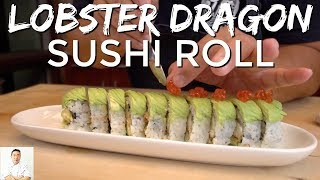 Lobster Tempura Dragon Sushi Roll by Diaries of a Master Sushi Chef
