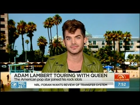 2015-03-18: Adam Lambert on Sunrise