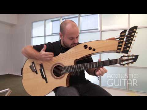 Musician Andy McKee Performs  Streets of Whiterun  from Skyrim on a Beautiful Combination Harp