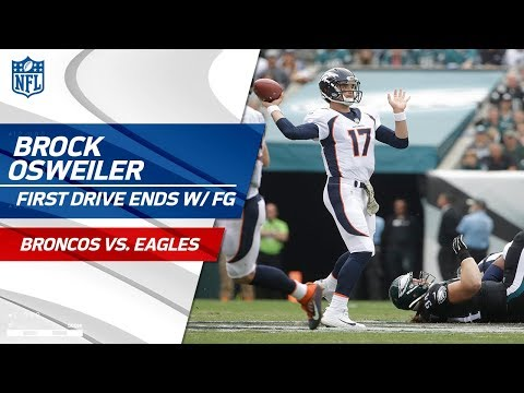 Video: Brock Osweiler's Strong Opening Drive Ends w/ a FG | Broncos vs. Eagles | NFL Wk 9 Highlights