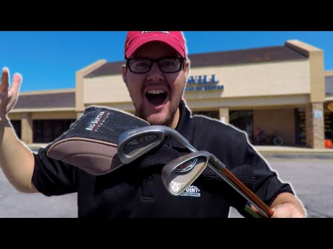 We Found Rare JAPANESE ISSUE GOLF CLUBS at a THRIFT STORE!!