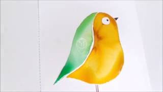 How To Paint A Simple Bird (Watercolor Showcase By Big Bear & Bird)