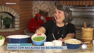 Deliciosa receita de arroz com bacalhau no Balanço Geral Especial