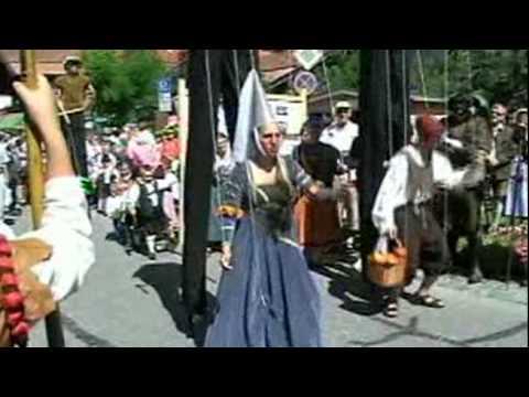 Lenggries wird Int. Flößerdorf - Historisches Flößerfest in Lenggries 2009