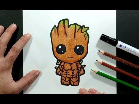 Como Dibujar A Groot Paso A Paso 2 - Los Guardianes De La Galaxia | How To Draw Groot 2