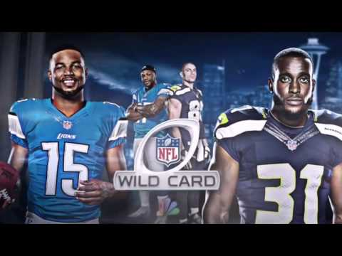 NFL NBC - Wild Card Game 2017 Game Intro - Detriot Lions vs Seattle Seahawks (видео)