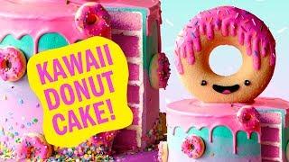 How To Make A Kawaii Donut Cake! - The Scran Line