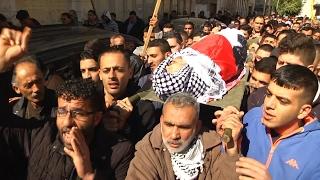 جنازة الشهيد الأسير محمد ثابت الجلاد من مدينة طولكرم