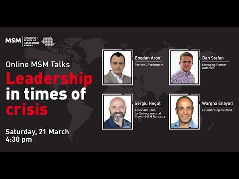 Leadership în timp de criză #1 (full talk) видео