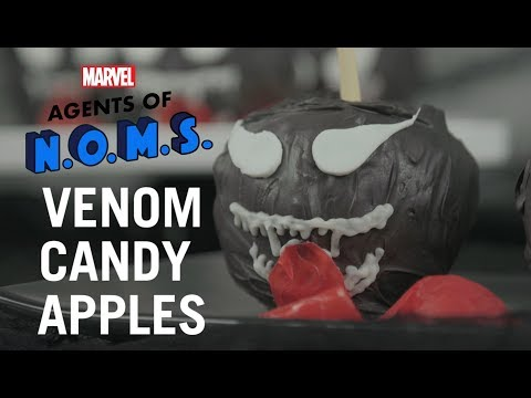 How To Make Candy Apples Inspired By Venom For Halloween!