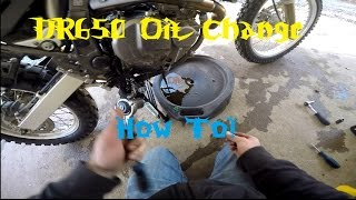 7. How To! 1996-2016 DR650 Oil Change