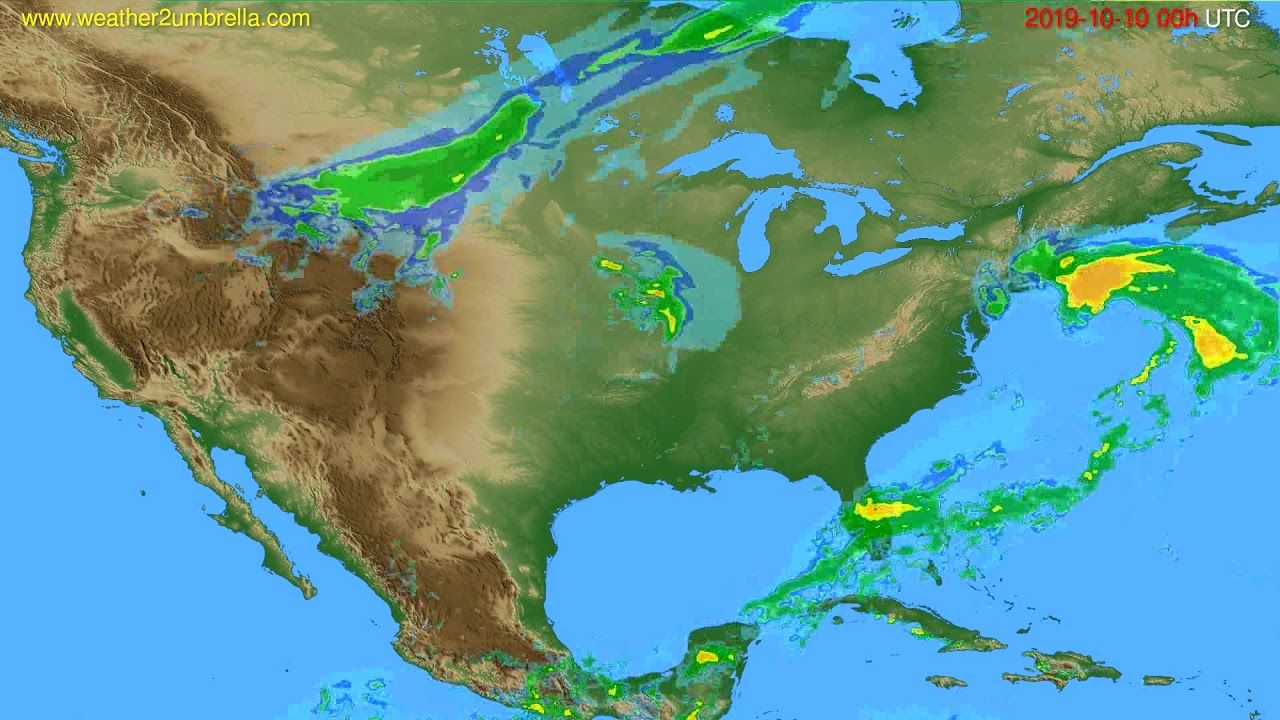 Radar forecast USA & Canada // modelrun: 12h UTC 2019-10-09
