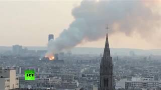 Notre Dame Cathedral ravaged by huge inferno